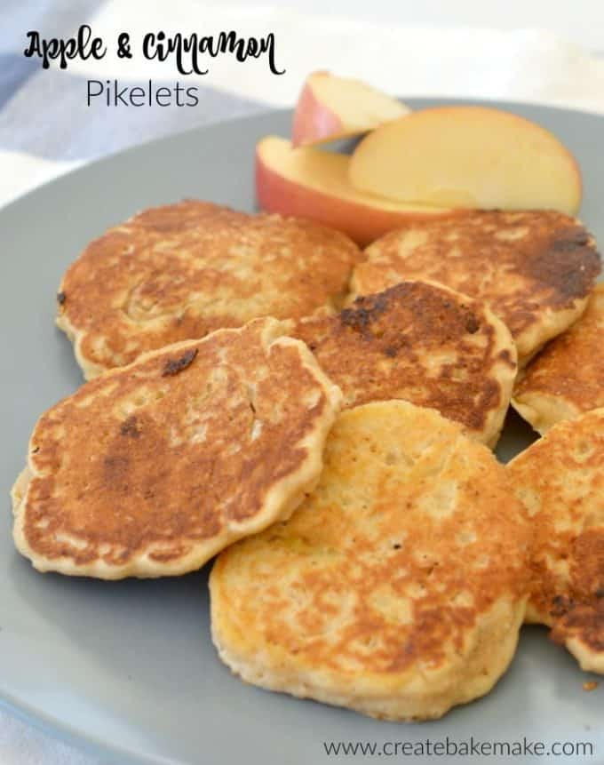 Wholemeal Apple and Cinnamon Pikelets