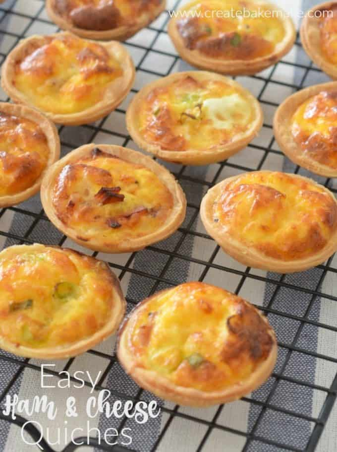 Mini Ham and Cheese Quiche Recipe