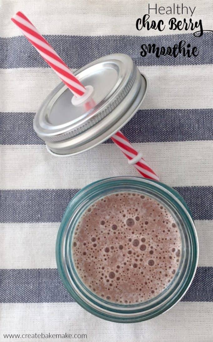 Healthy Choc Berry Smoothie Recipe