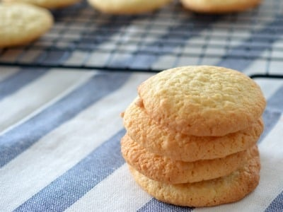 Stack of four coconut biscuits