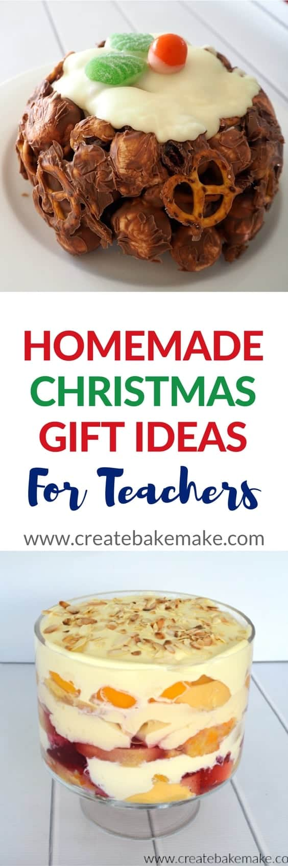 Homemade Christmas Gifts for Teachers - Create Bake Make