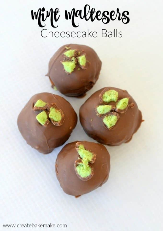 Mint Maltesers Cheesecake Balls Recipe