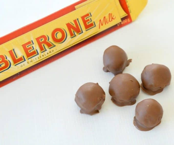 Toblerone Cheesecake Balls