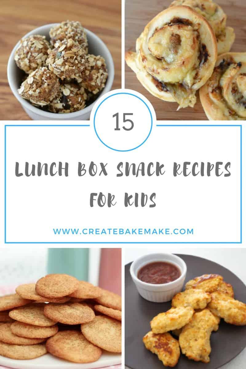 lunch box recipe collage