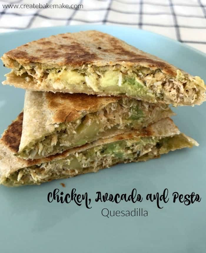 Chicken Avocado and Pesto Quesadilla Recipe