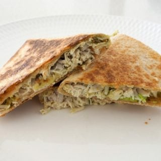 Chicken Avocado and Pesto Quesadilla