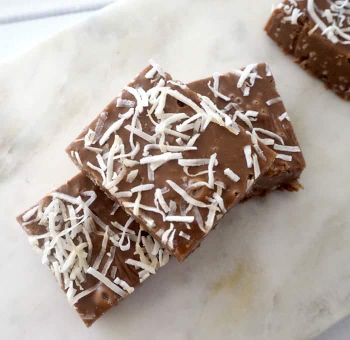 Chocolate and Coconut Fudge
