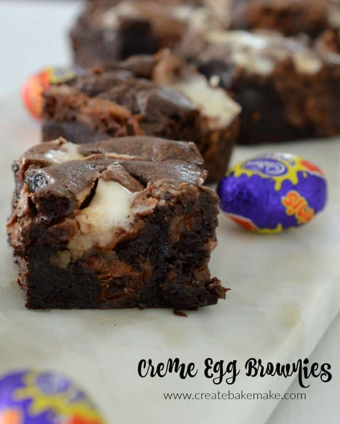 Cadbury Creme Egg Brownies Recipe