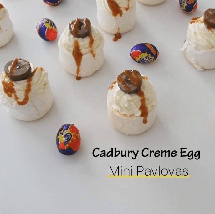 Cadbury Creme Egg Mini Pavlovas