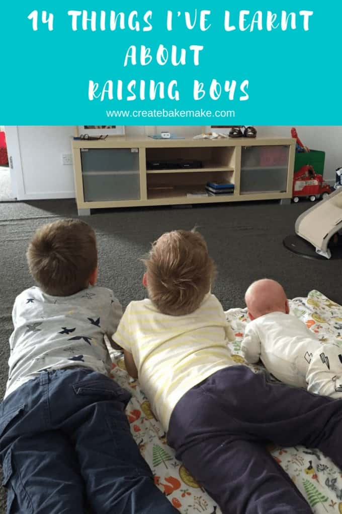 Things I've learnt about raising boys