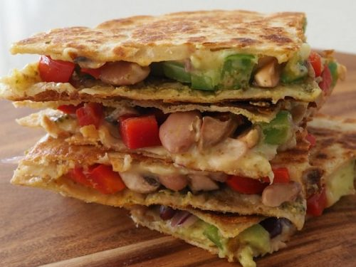 Vegetarian Quesadilla With Pesto And Avocado Create Bake Make