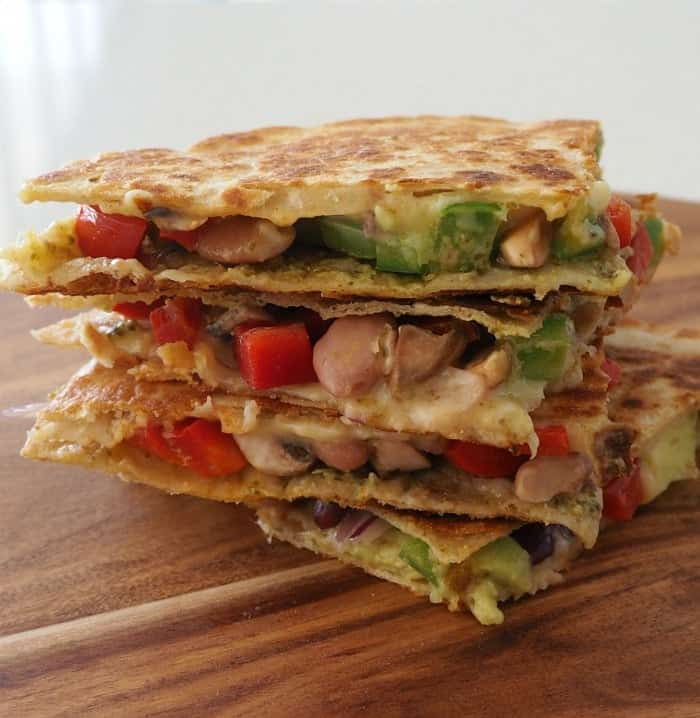 Vegetarian Quesadilla with Pesto and Avocado Recipe