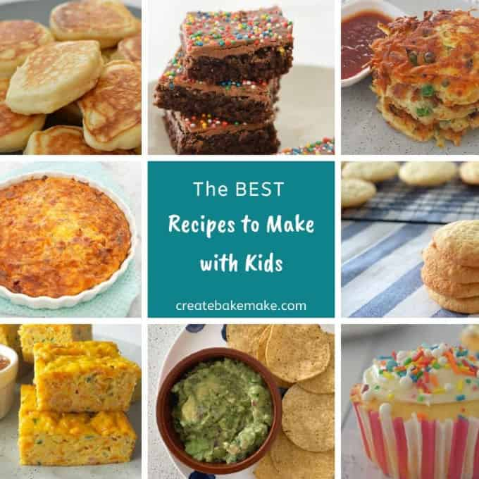 Easy Recipes to Make With Kids. Both sweet and savoury recipes for the whole family. Both regular and Thermomix instructions included.