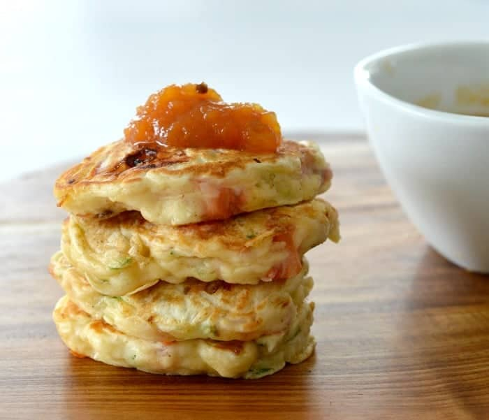 Savoury Ham Cheese and Zucchini Pikelets