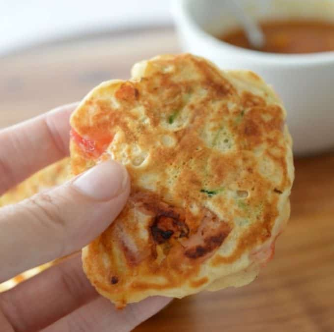 Ham Cheese and Zucchini Pikelets Recipe