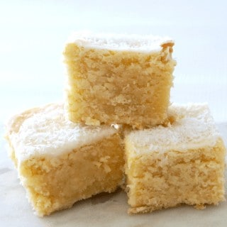 Easy Lemon and Coconut Blondie Recipe