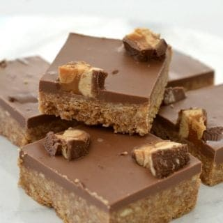 Chocolate Snickers Slice