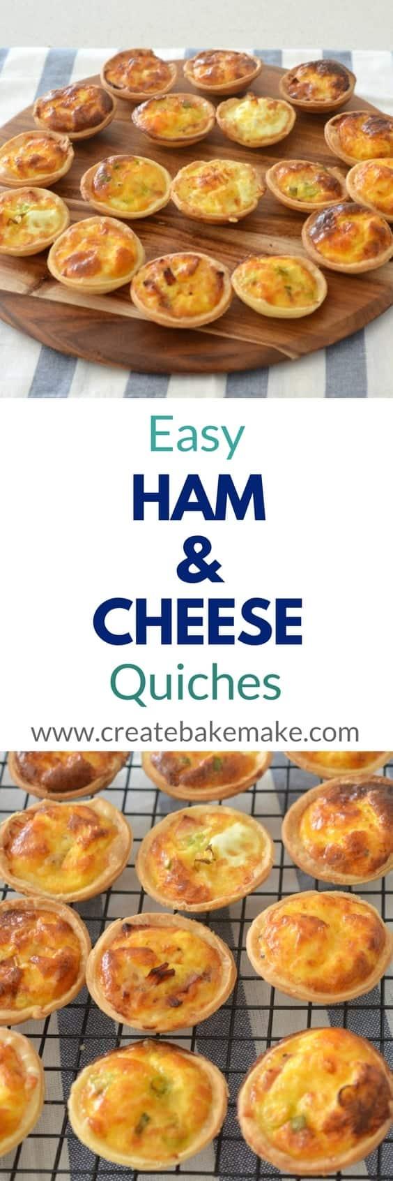Mini Ham and Cheese Quiches