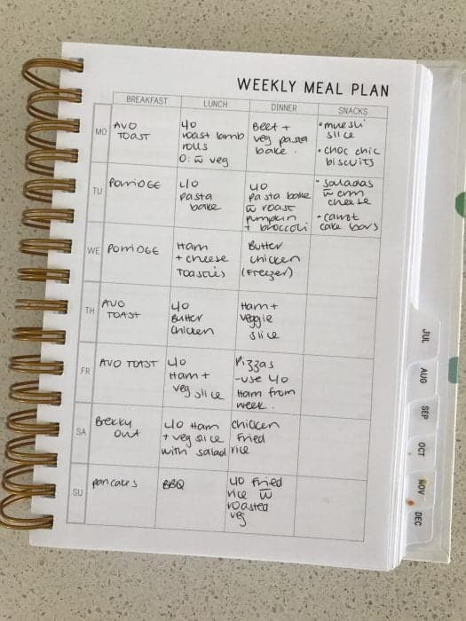How I use my planner
