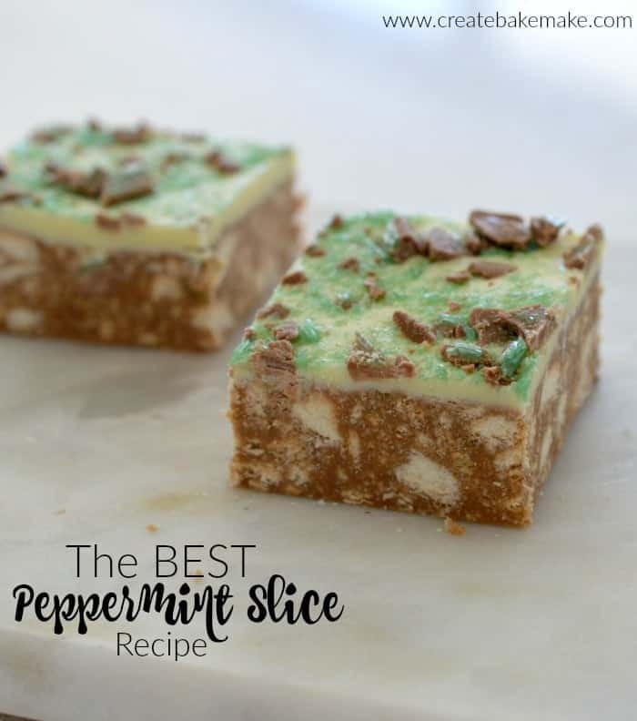 No Bake Peppermint Slice