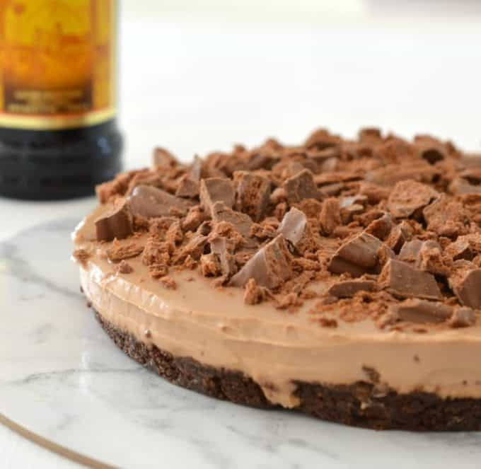 No Bake Chocolate Kahlua Cheesecake
