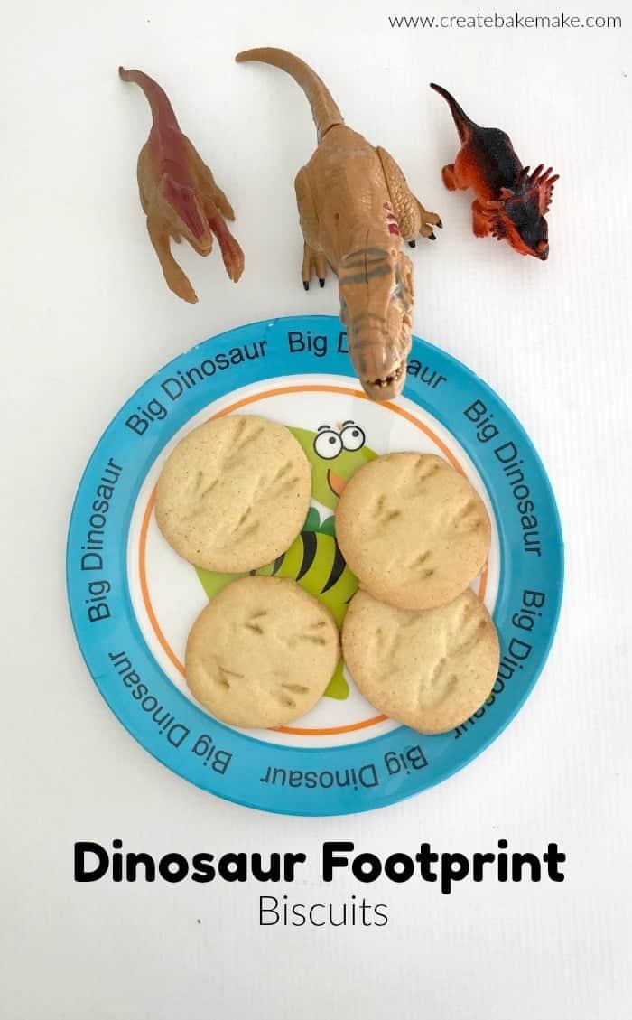 Dinosaur Footprint Biscuits
