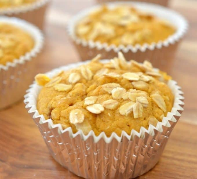 Pumpkin and Oat Muffins