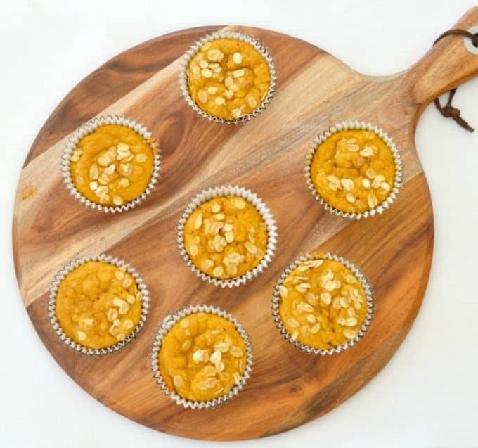 Pumpkin and oat Muffins