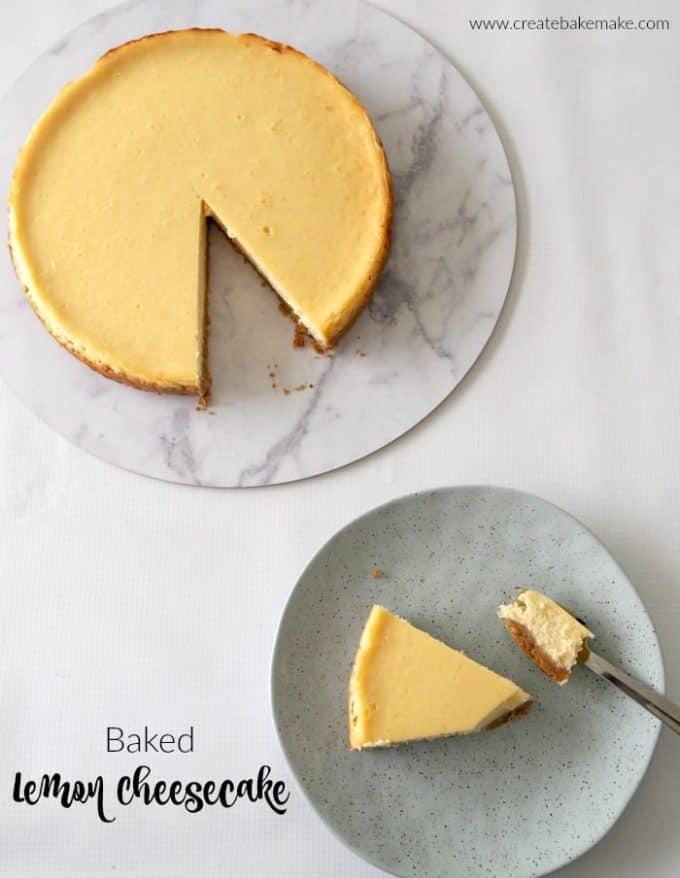 Baked Lemon Cheesecake Recipe