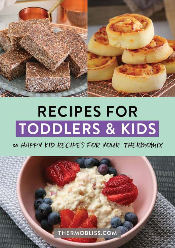 Image of front cover of recipes for toddlers and kids ebook