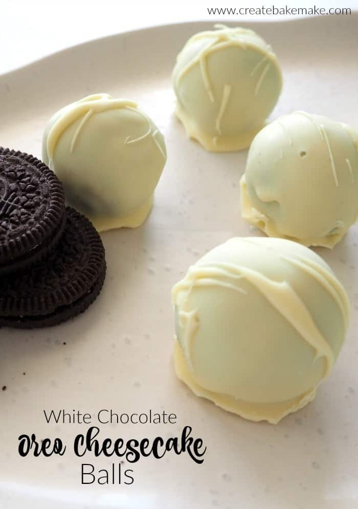 White Chocolate Oreo Cheesecake Balls
