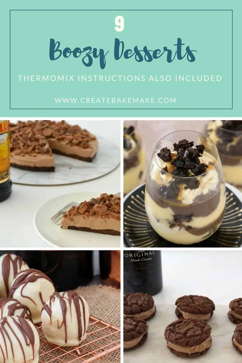 boozy desserts recipes