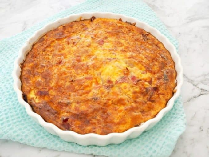 Ham Corn and Cheese Impossible Pie