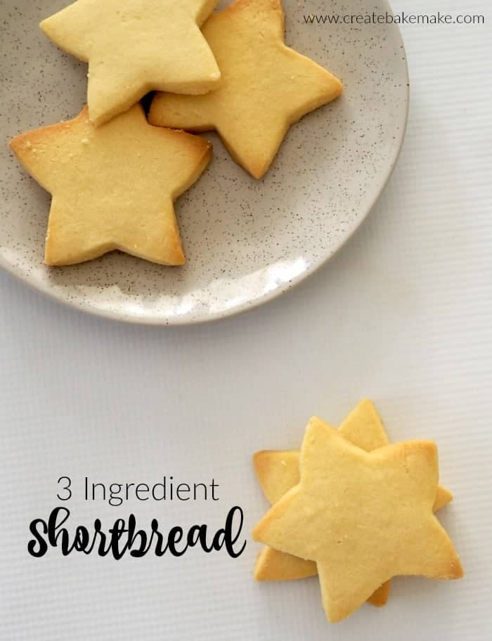 Easy 3 Ingredient Shortbread Recipe. Perfect for Christmas Baking, Freezer Friendly and Thermomix instructions also included.