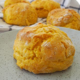 Easy Cheese and Pumpkin Scones recipe - perfect savoury snack and also good for lunchboxes too. Both regular and Thermomix instructions included.