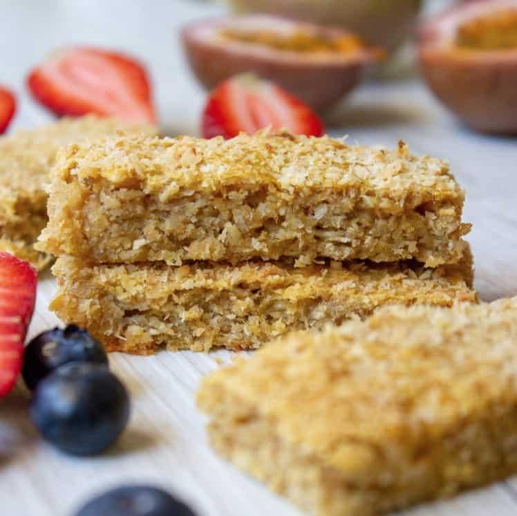 Breakfast Ideas for Kids - Sugar Free Tropical Fruit Bars