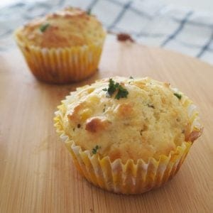 Easy Cheese and Corn Muffins Recipe. A great side dish or savoury snack and lunchbox treat. Both regular and Thermomix instructions included