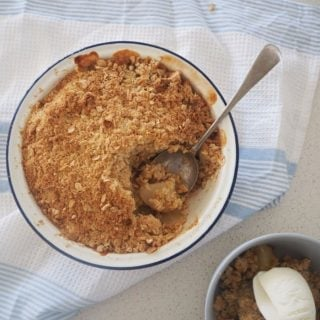 How to make Apple and Pear Crumble, an easy family dessert