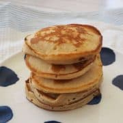 stack of banana pikelets on plate