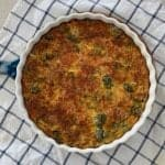 Broccoli Bacon and Cheese Impossible Pie Recipe. Thermomix and Regular instructions both included.