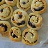 An Easy Apple and Blueberry Scrolls recipe.