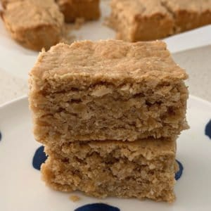 Quick Peanut Butter Slice Recipe. Both regular and Thermomix instructions included.
