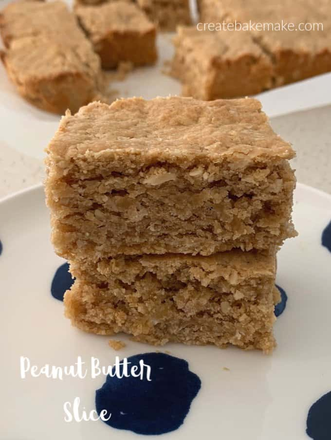 This easy Peanut Butter Slice makes a great snack!
