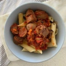 Quick Curried Sausage Pasta Recipe. An easy family dinner.