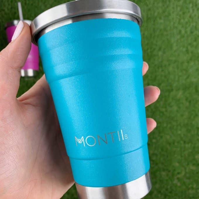 MontiiCo Mini Smoothie Cup Glitter Aqua