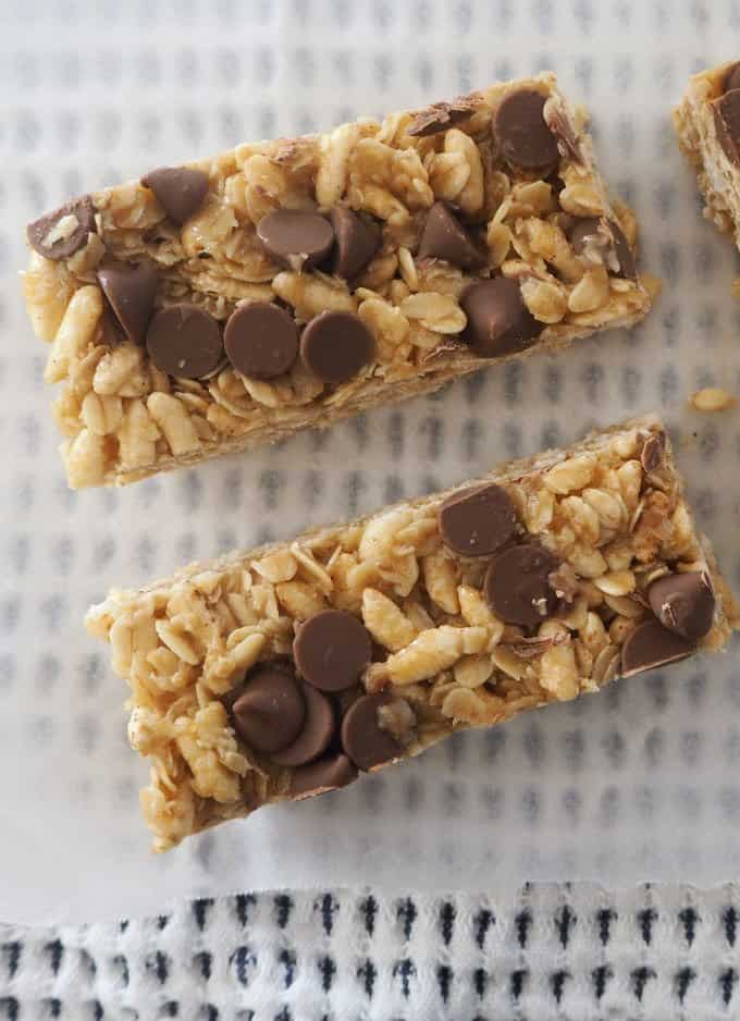 No Bake Choc Chip Muesli Bars