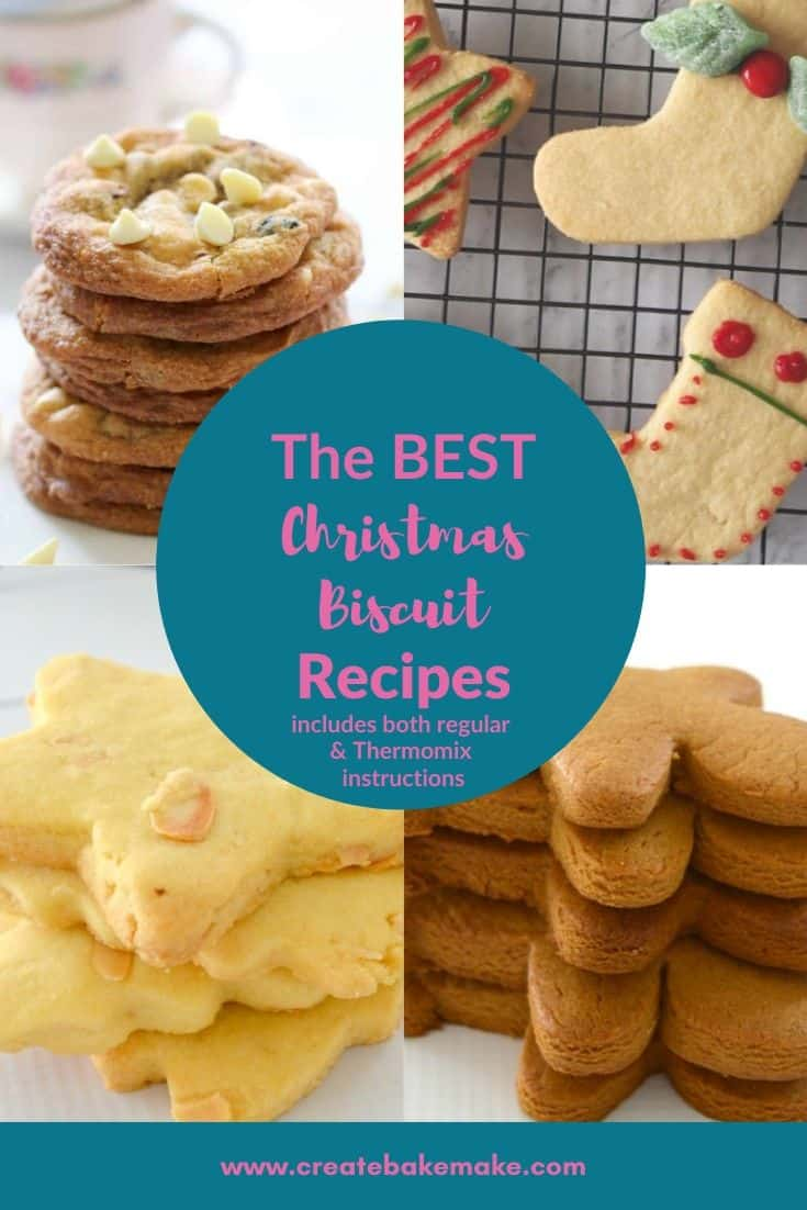 A collection of The Best Christmas Biscuit Recipes which include both regular and Thermomix instructions