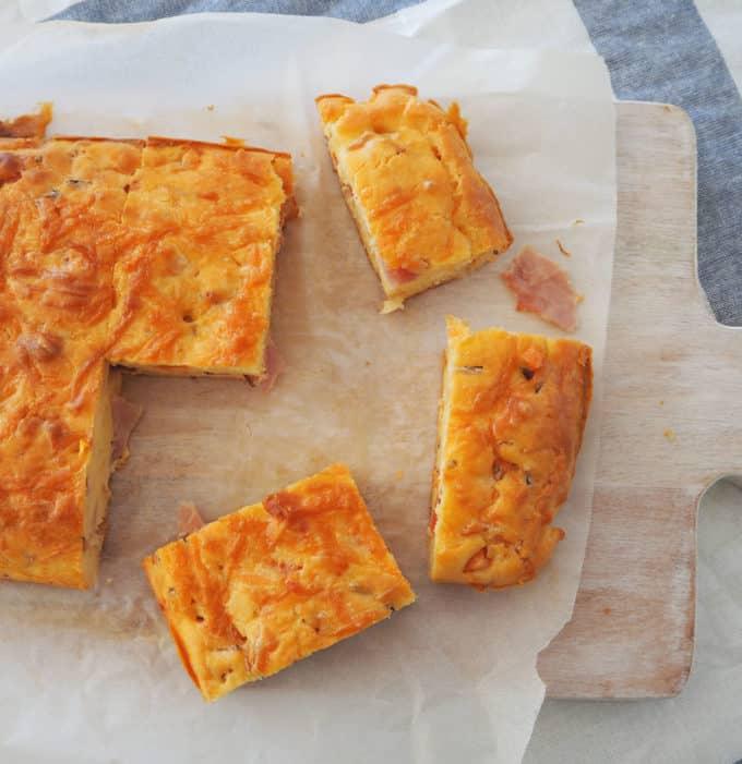 Ham cheese and Tomato Slice Recipe
