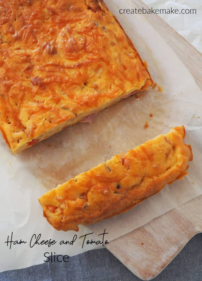 Ham Cheese and Tomato Slice Recipe. Both regular and Thermomix instructions included