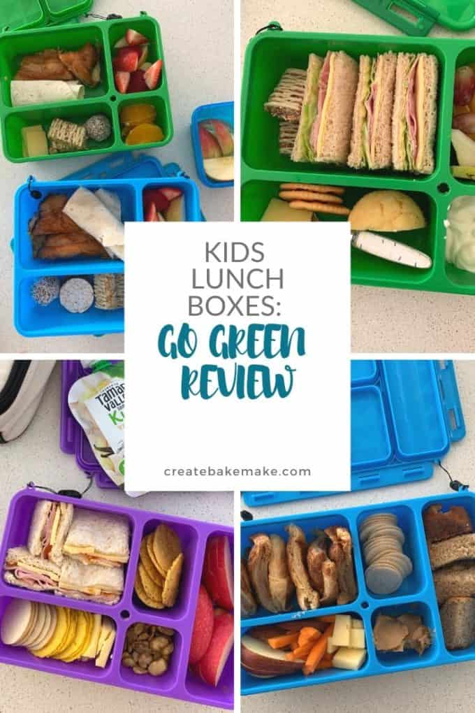 Collage of go green lunchboxes